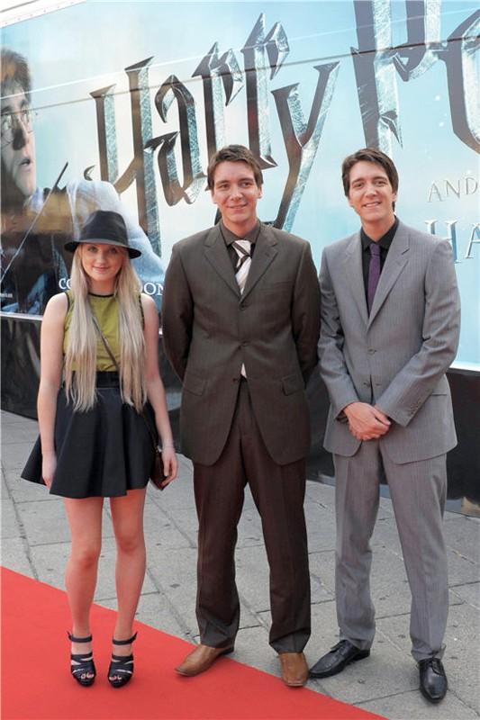 I gemelli James, Oliver Phelps ed Evanna Lynch a Milano per pubblicizzare il film di 'Harry Potter e il principe mezzosangue'
