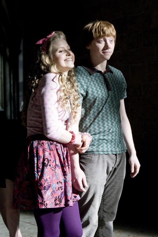 Jessie Cave (Lavanda Brown) e Rupert Grint (Ron Weasley) in una scena del film Harry Potter and the Half-Blood Prince