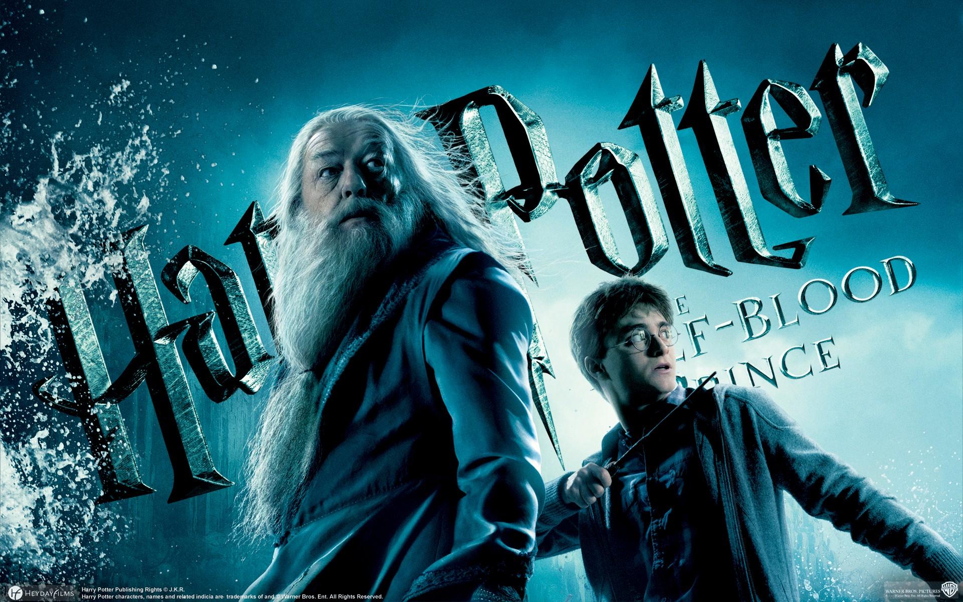 Un wallpaper di Albus Silente e Harry Potter per il film Harry Potter and the Half-Blood Prince