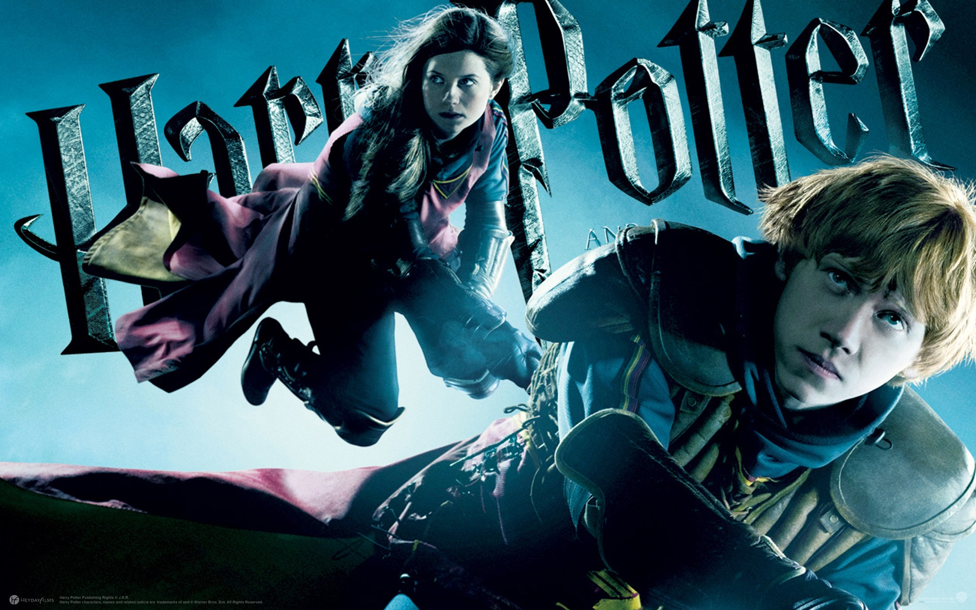 Un wallpaper di Ginny Weasley e Ron Weasley per il film Harry Potter and the Half-Blood Prince