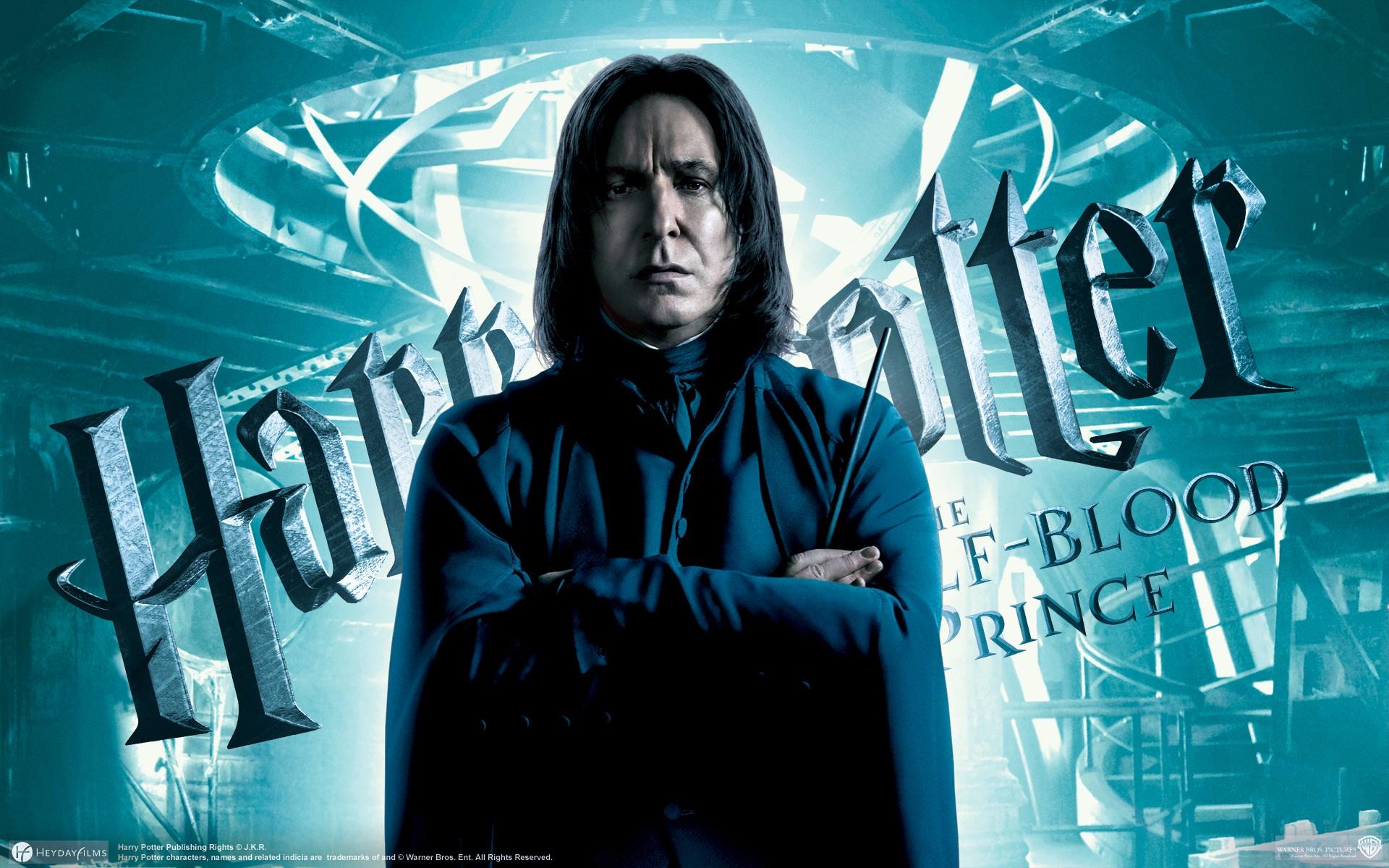 Un wallpaper ufficiale di Alan Rickman per Harry Potter e il Principe Mezzosangue