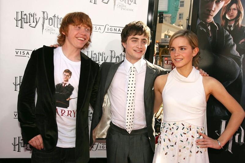 Il magico trio a Los Angeles, alla premiere del film 'Harry Potter and the Order of the Phoenix'