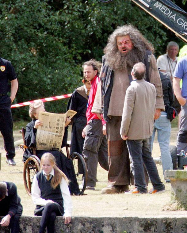 Maggie Smith, Robbie Coltrane e David Yates sul set del film Harry Potter and the Order of the Phoenix