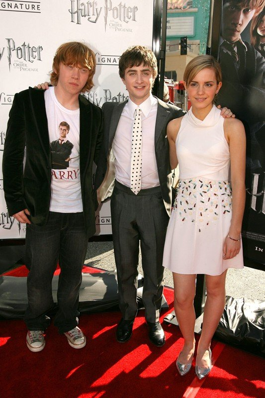 Rupert Grint, Daniel Radcliffe e Emma Watson alla premiere del film Harry Potter e l'ordine della Fenice a Los Angeles
