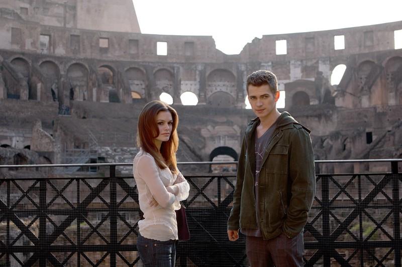 Hayden Christensen e Rachel Bilson sul set, a Roma, per il film Jumper - Senza confini