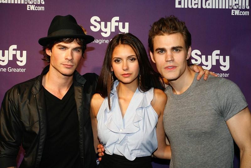 Ian Somerhalder, Nina Dobrev e Paul Wesley al Comic Con 2009 - Entertainment Weekly Party per presentare la serie The Vampire Diaries