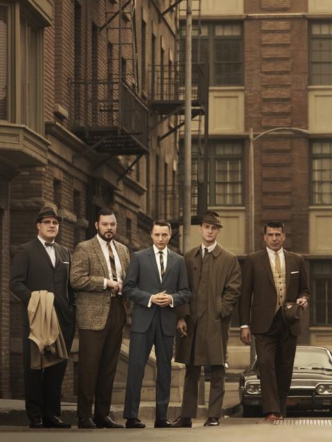 Il cast della stagione 3 di Mad Men in una immagine promozionale