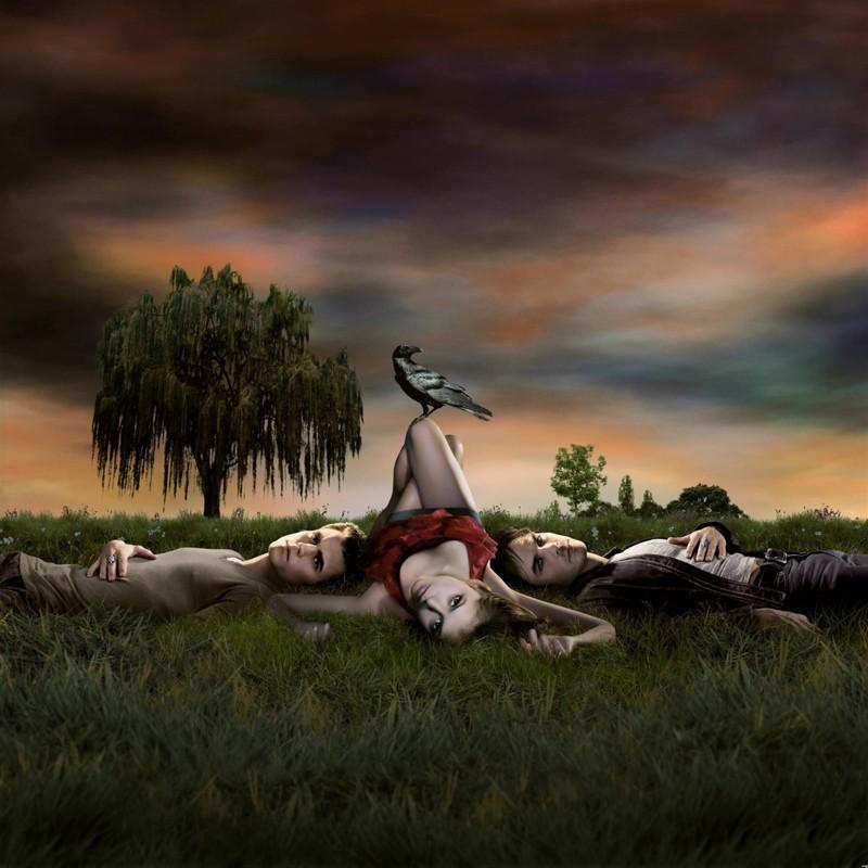La foto promozionale usata per il poster della serie The Vampire Diaries