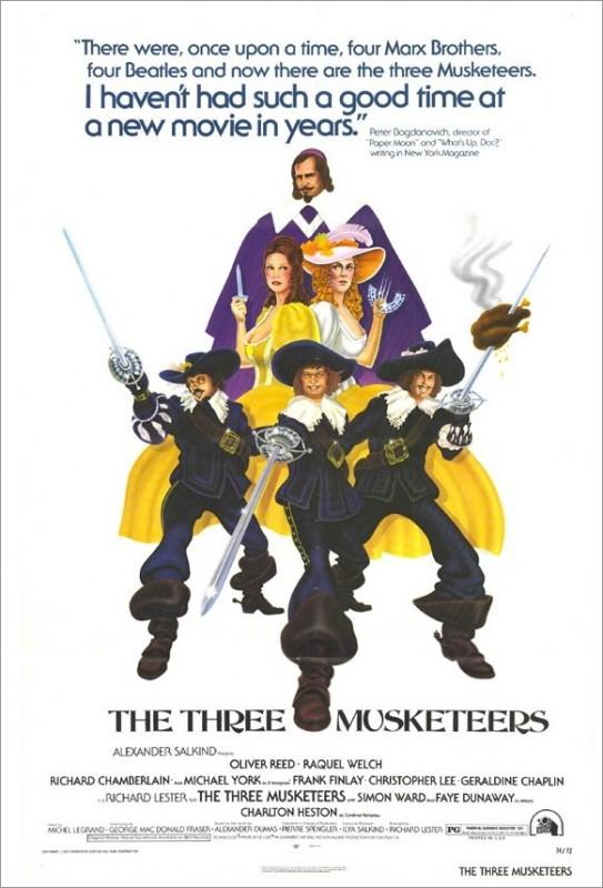 La locandina del film I tre moschettieri