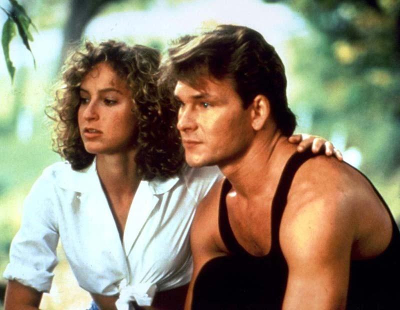 Patrick Swayze e Jennifer Grey in una scena del film Dirty Dancing