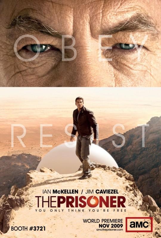 Un poster della nuova serie AMC The Prisoner
