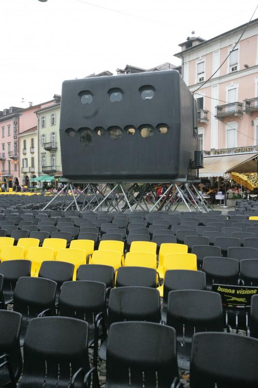 Una foto della Piazza Grande di Locarno