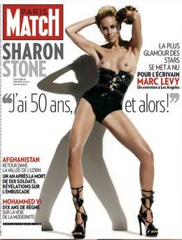 Sharon Stone a seno nudo sulla copertina di Paris Match: 'Ho cinquant'anni, e allora?'