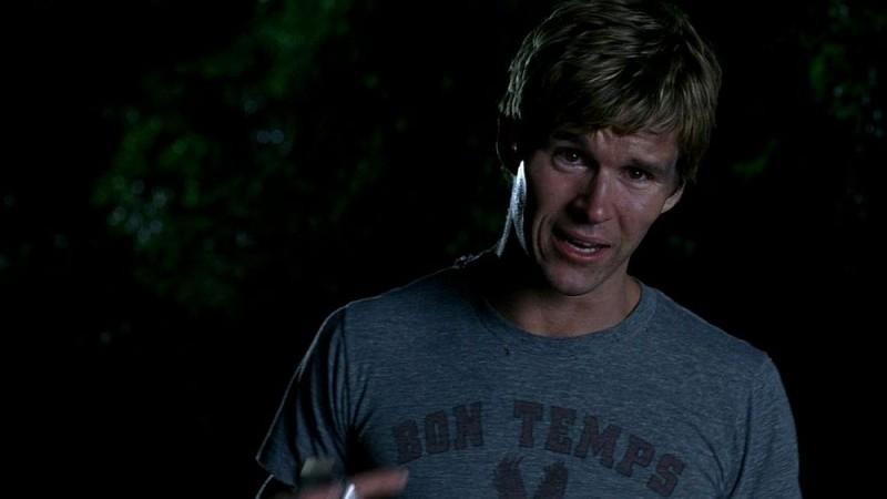 Un primo piano di Ryan Kwanten in una sequenza dell'episodio 'Release Me' della serie tv True Blood