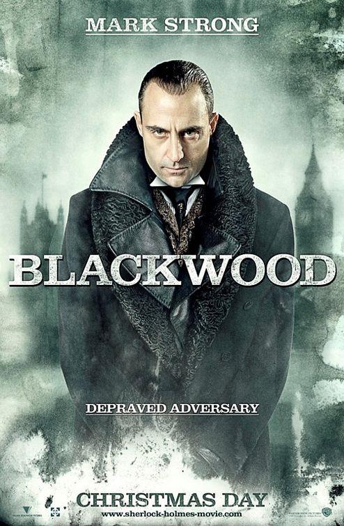 Character poster per Sherlock Holmes - Mark Strong (Blackwood)