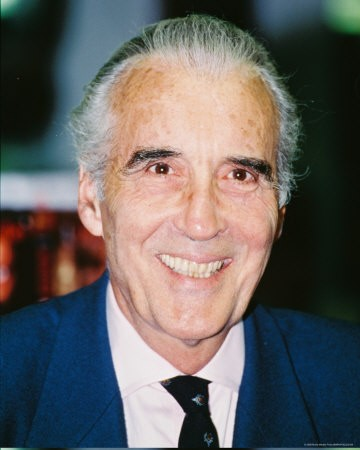Una fotografia di Christopher Lee