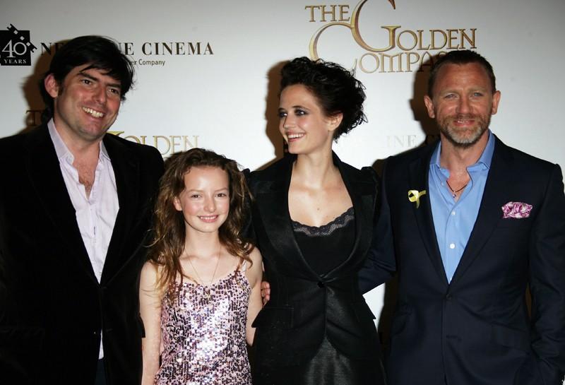 Chris Weitz, Dakota Blue Richards, Eva Green e Daniel Craig alla premiere del film 'The Golden Compass'