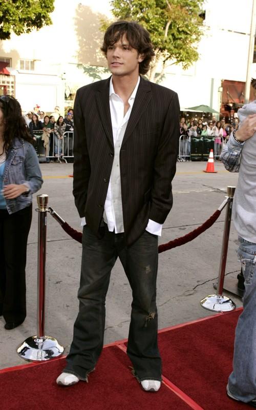 Jared Padalecki sul red carpet alla premiere del film La maschera di cera
