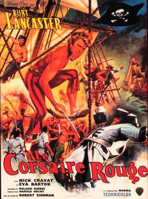 La locandina francese del film Il corsaro dell\'isola verde