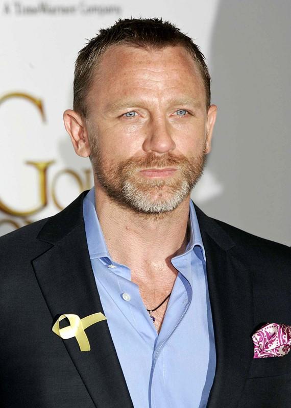 Un primo piano di Daniel Craig alla premiere del film 'La Bussola d'Oro'