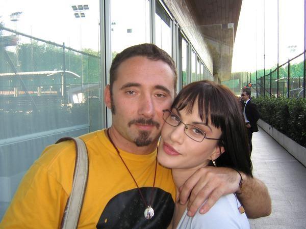 Federico Zampaglione e Crisula Stafida sul set di Nero Bifamiliare