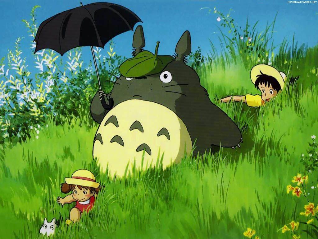 Wallpaper del film d'animazione Il mio vicino Totoro di Hayao Miyazaki
