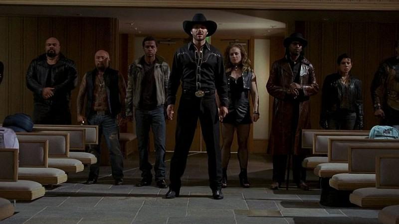 Ed Quinn in una scena dell'episodio 'Timebomb' della serie True Blood
