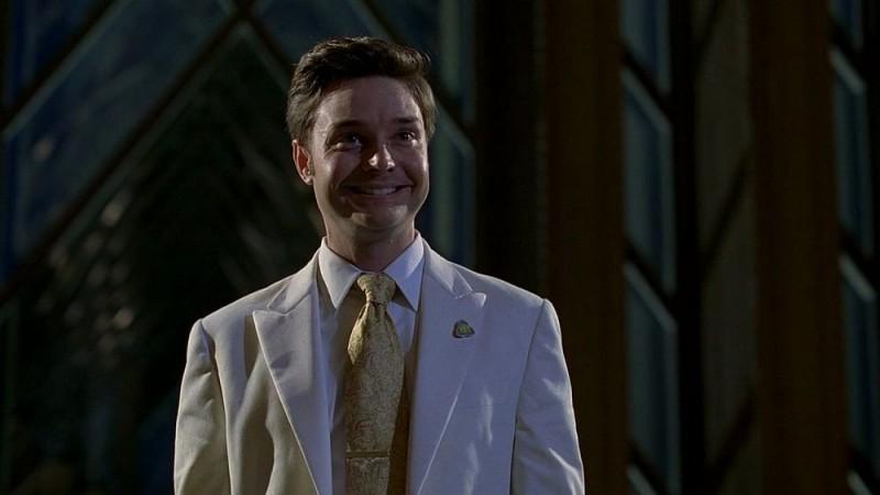 Michael McMillian nei panni del reverendo Newlin in una scena dell'episodio 'Timebomb' della serie True Blood