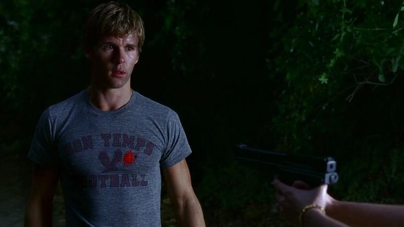 Ryan Kwanten in una scena dell'episodio 'Timebomb' della serie True Blood