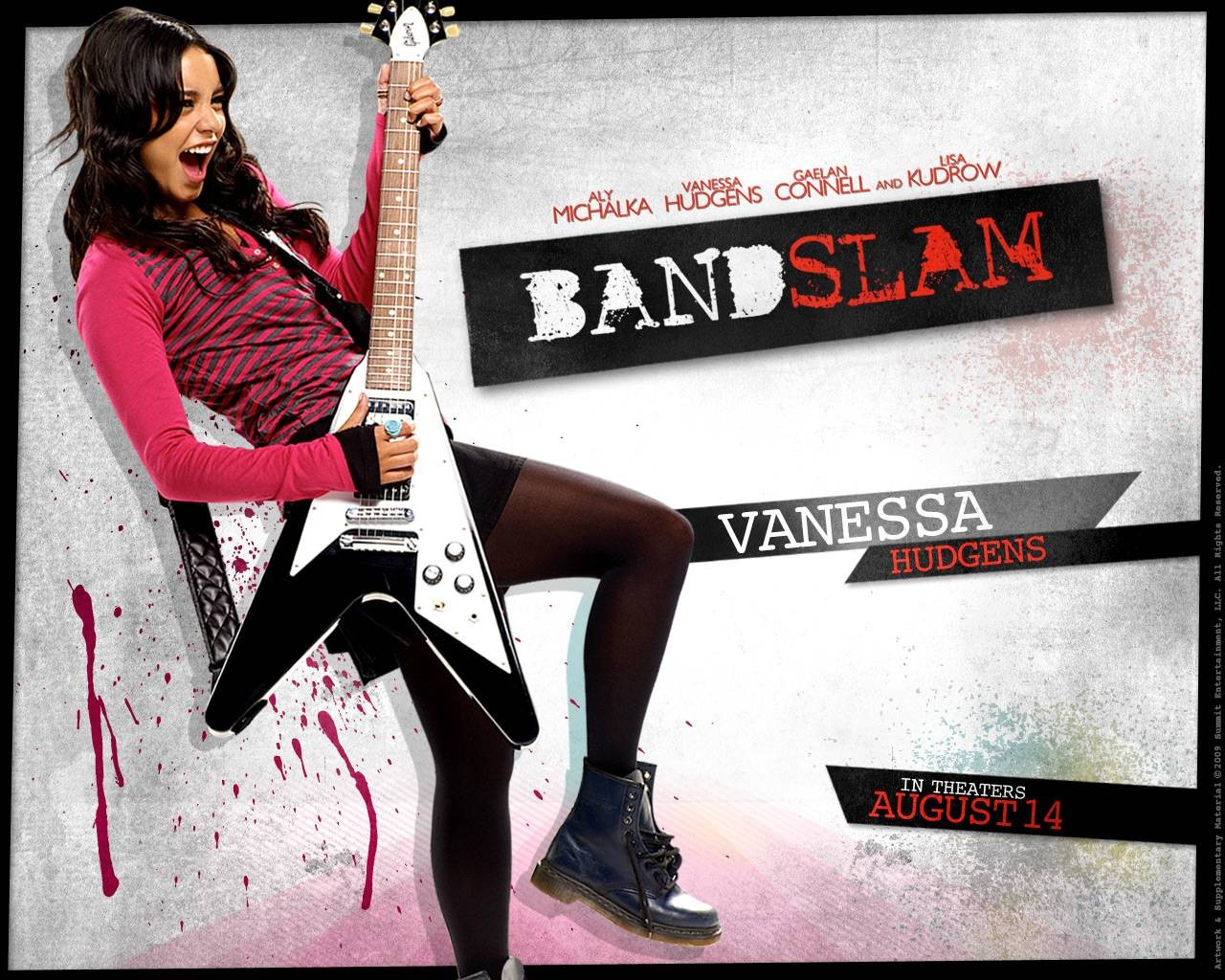 Un wallpaper di High School Band con Vanessa Hudgens
