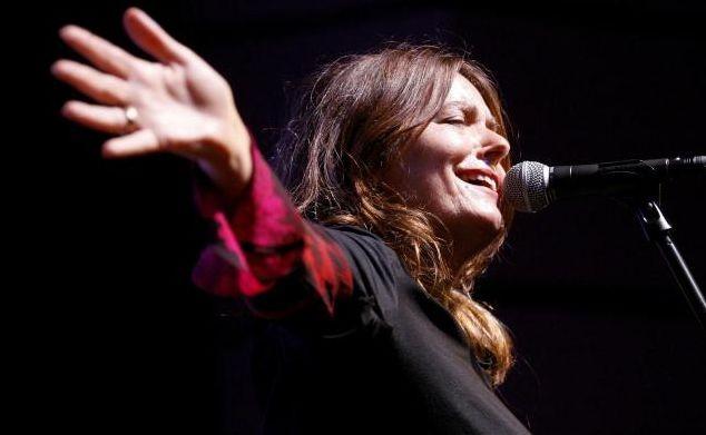 La cantante Nada Malanima in concerto al Festival di Locarno del 2009