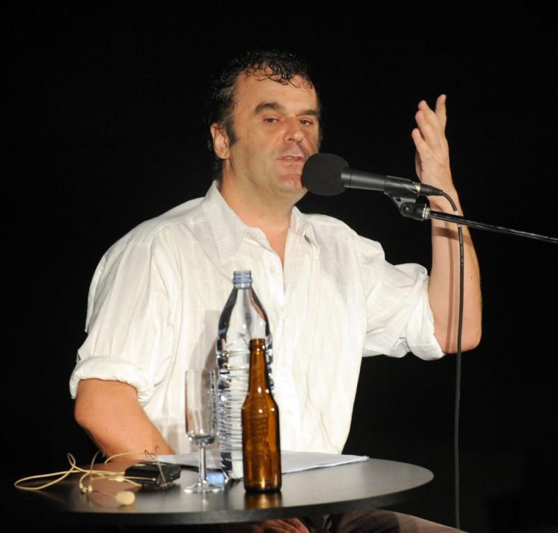 Pippo Delbono in un momento dello spettacolo 'Racconti di giugno', evento del Festival di Locarno 2009