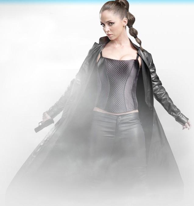 Eliza Dushku in una immagine promozionale della stagione 2 di Dollhouse