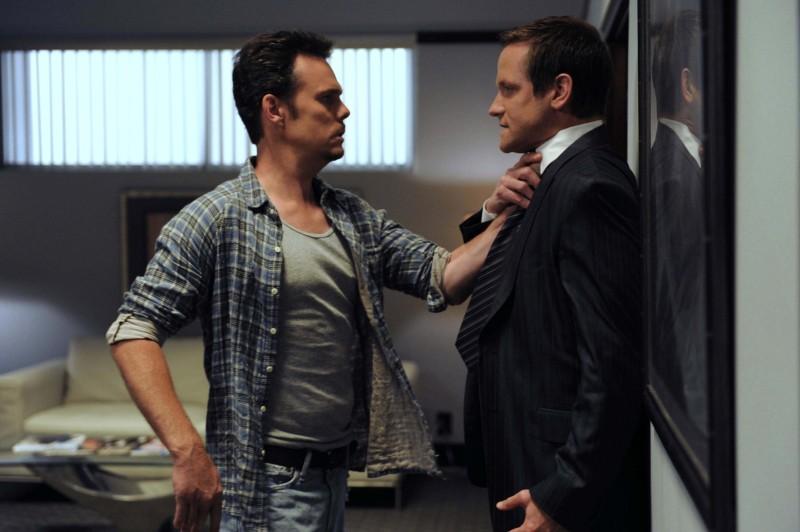 Kevin Dillon e Matt Letscher in una scena dell'episodio 'Murphy's Lie' della sesta stagione di Entourage