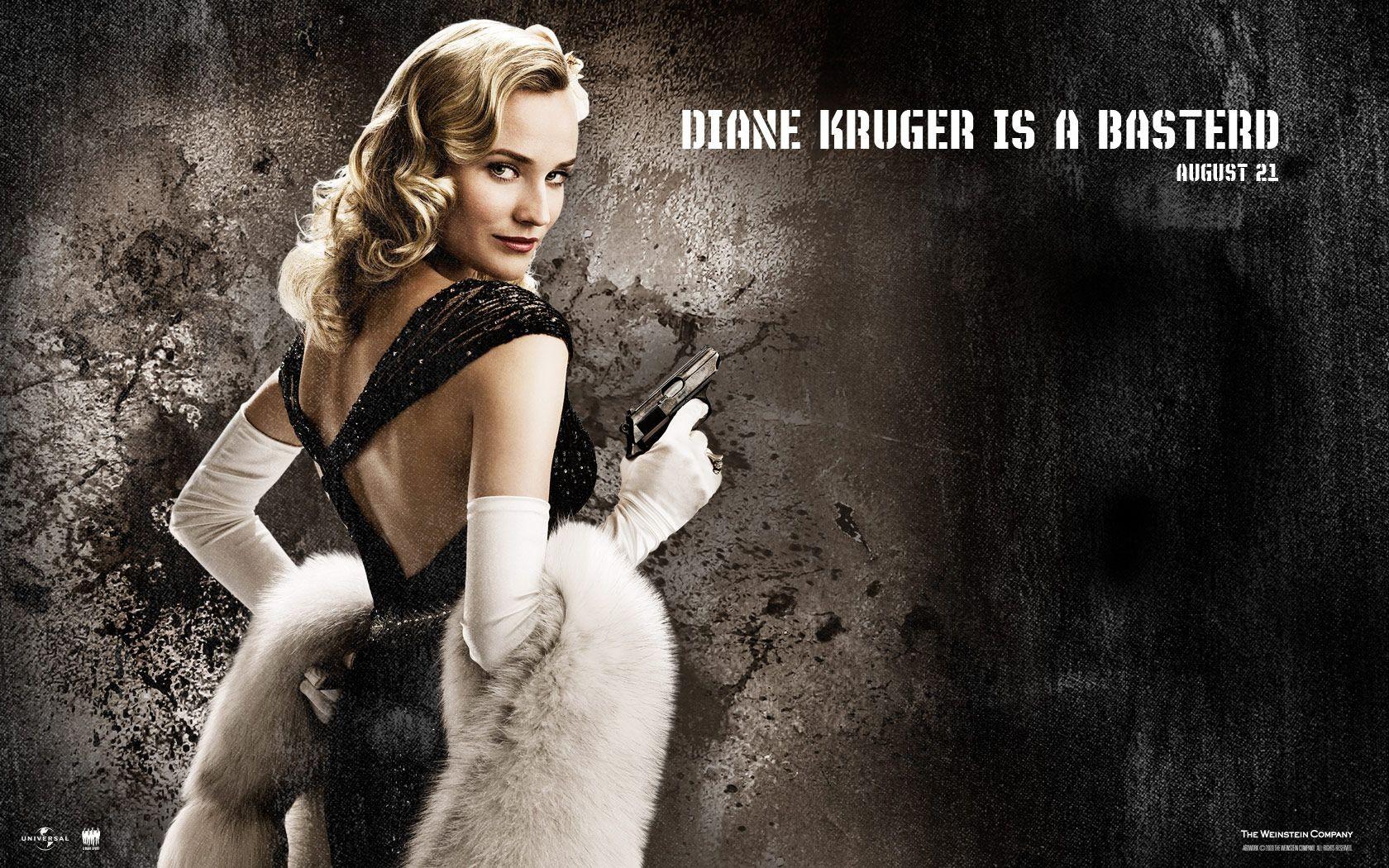 Un wallpaper del film Bastardi senza gloria con Diane Kruger
