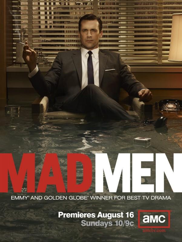 Una locandina della terza stagione di Mad Men