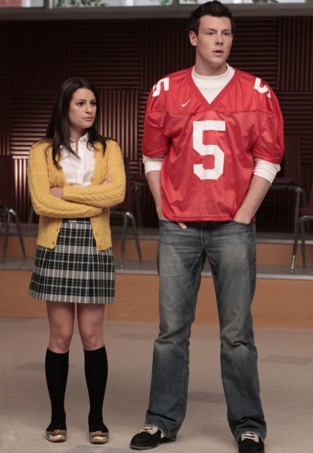 Cory Monteith e Lea Michele nell'episodio Showmance di Glee