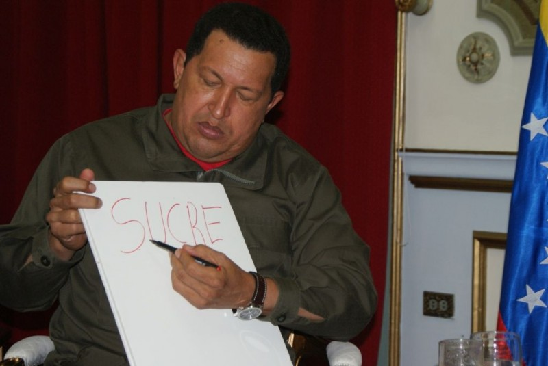 Hugo Chávez in una scena del documentario South of the Border