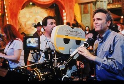 Il regista Joe Dante sul set di Looney Tunes Back in Action