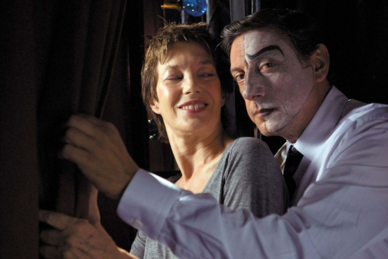 Jane Birkin e Sergio Castellitto sul set del film Questione di punti di vista