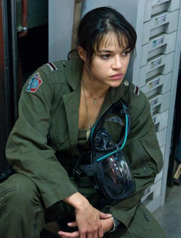 Michelle Rodriguez nel film Avatar, diretto da James Cameron