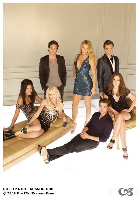 Una foto promozionale del cast della stagione 3 di Gossip Girl
