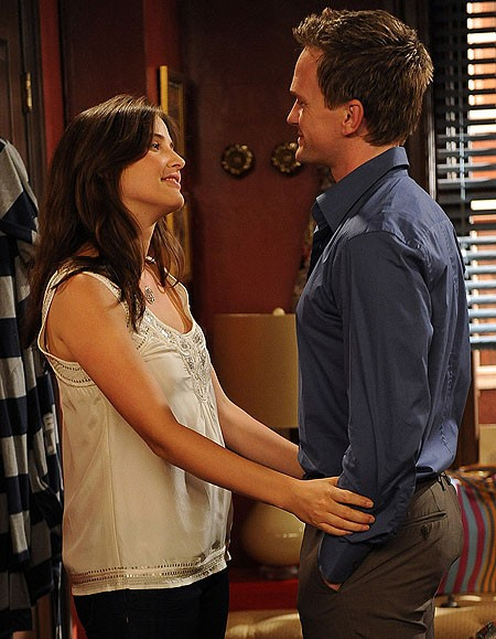 Neil Patrick Harris e Cobie Smulders nell'episodio Definitions di How I Met Your Mother