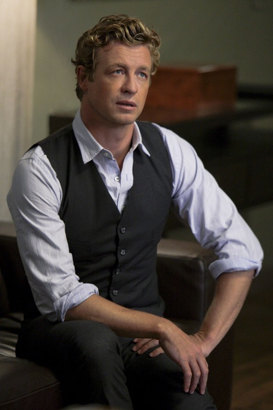 Simon Baker in una scena dell'episodio Redemption di The Mentalist
