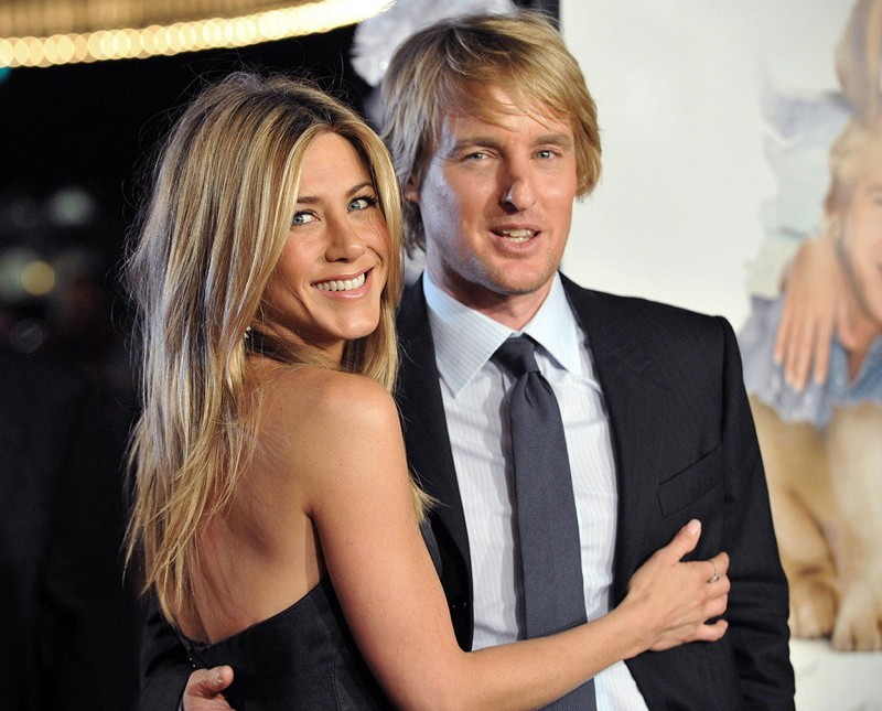 owen wilson e jennifer aniston alla premiere del film io marley a los angeles nel dicembre. Black Bedroom Furniture Sets. Home Design Ideas