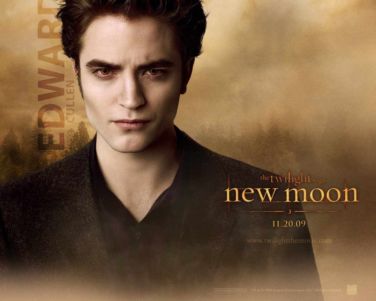 Un wallpaper ufficiale dedicato al personaggio di Edward Cullen (Robert Pattinson) per il film Twilight Saga: New Moon