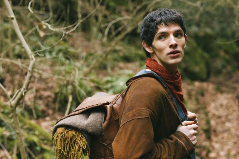 Colin Morgan in una scena della stagione 2 di Merlin
