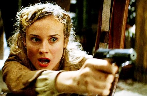 Diane Kruger in una scena del film Bastardi senza gloria di Quentin Tarantino