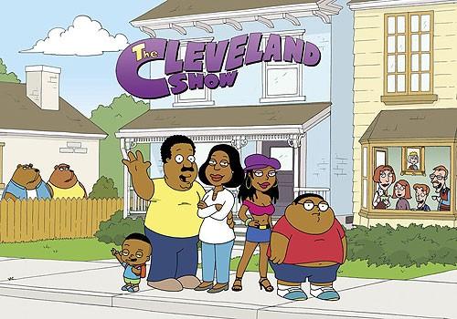 Poster con sviluppo orizzontale della serie The Cleveland Show