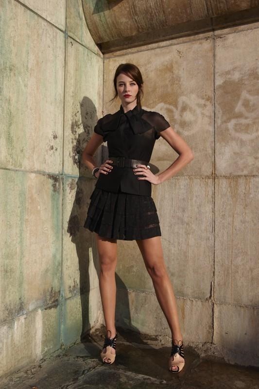 Rachel Nichols in una promo per il film G.I. Joe: La nascita dei Cobra